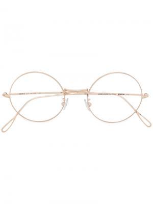 Классические круглые очки Kyme. Цвет: металлический