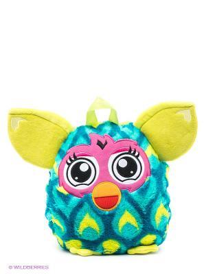 Плюшевый рюкзак Furby. Цвет: морская волна, розовый, желтый