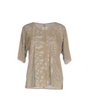 Блузка FINE COLLECTION. Цвет: песочный