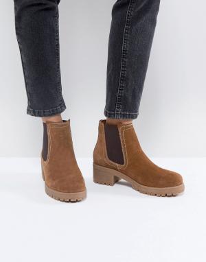 ASOS Замшевые ботинки челси RHEA. Цвет: рыжий
