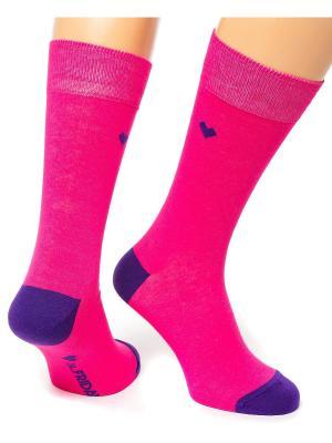 Дизайнерские Носки St.Friday Socks. Цвет: фуксия