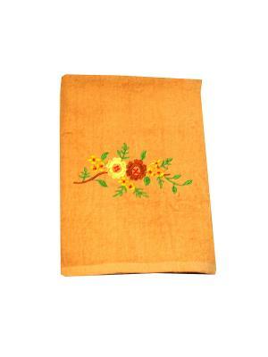 Полотенце Праздник 70х140 La Pastel. Цвет: оранжевый, светло-коричневый, светло-оранжевый