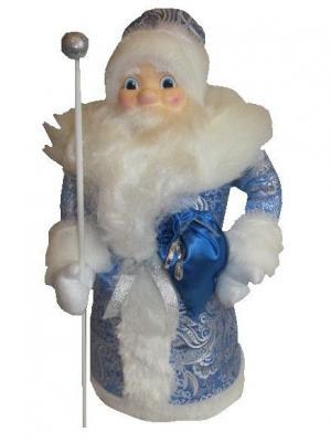 Дед мороз под елку Зимние узоры Волшебный мир. Цвет: голубой