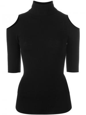 Джемпер с открытыми плечами Zoe Jordan. Цвет: чёрный