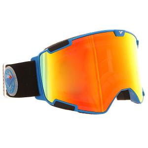 Маска для сноуборда  Crew Nw Icon Matte Iris Blue Fire Orange Rose I/S Eyewear. Цвет: синий,черный