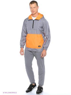 Куртка ZIQ&YONI. Цвет: серый, оранжевый