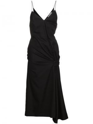 Платье без рукавов с дизайном со сборкой Jacquemus. Цвет: чёрный