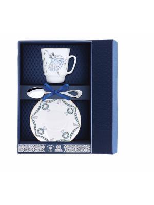 Набор чайный Майская - Балет Жизель 3 предмета + футляр АргентА. Цвет: серебристый