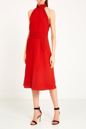 Красное платье-хальтер Gucci. Цвет: красный