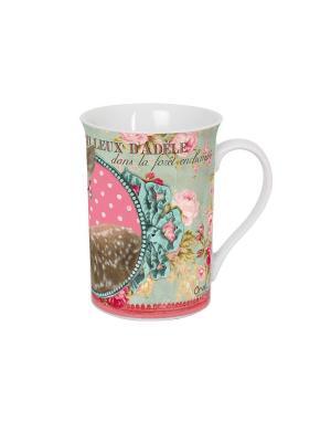 Чайная кружка керамическая  7,5,выс.10 см, 270 мл Мир Адели. Orval. Цвет: белый, черный, розовый