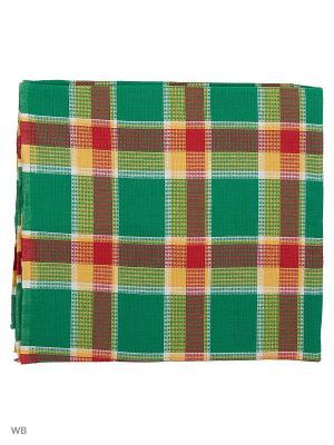 Полотенце вафельное банное Римейн. Цвет: зеленый, красный