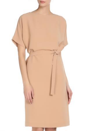 Платье Cyrille Gassiline. Цвет: коричнево-бежевый