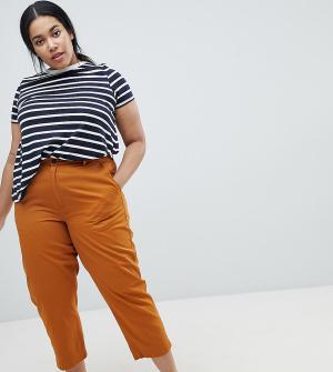 ASOS Curve Чиносы в винтажном стиле цвета охры. Цвет: оранжевый