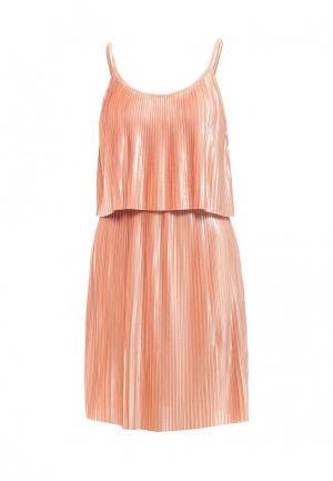 Платье Noisy May. Цвет: коралловый