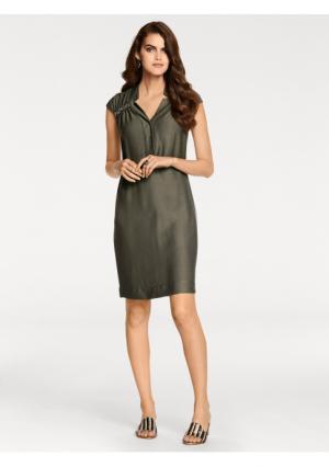 Платье PATRIZIA DINI. Цвет: оливковый