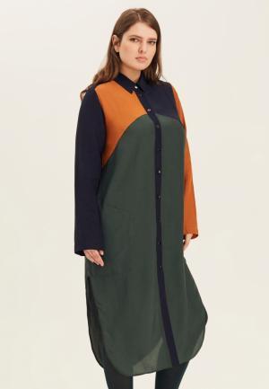 Платье W&B. Цвет: разноцветный