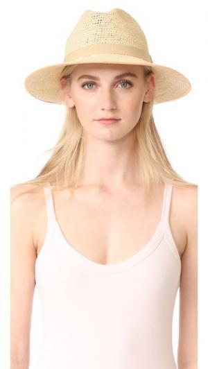 Плетеная шляпа Clasico Artesano. Цвет: натуральный/лососевый/кремовый