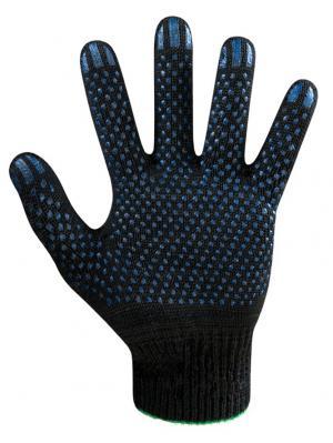 Перчатки х/б с ПВХ покрытием, рабочие 10 шт ЭТАЛОН. Цвет: черный