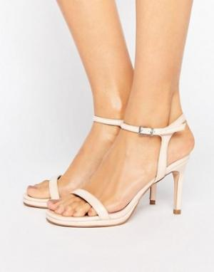 Faith Телесные сандалии на каблуке Dolly. Цвет: бежевый