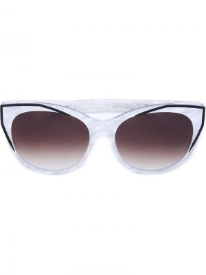 Солнцезащитные очки в оправе кошачий глаз Thierry Lasry. Цвет: белый