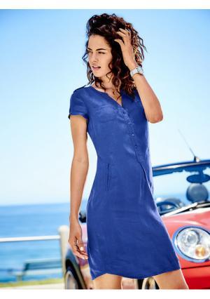 Платье B.C. BEST CONNECTIONS by Heine. Цвет: белый, зеленый, королевский синий, оранжево-красный, темно-синий