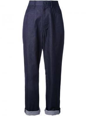 Укороченные джинсы Enföld. Цвет: синий