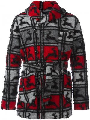 Пальто с воротником-шалька Engineered Garments. Цвет: серый