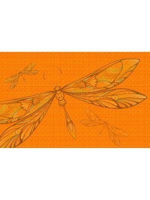 Плейсмат с принтом, набор 4 шт. ПВХ Dorothy's Нome. Цвет: оранжевый, коричневый
