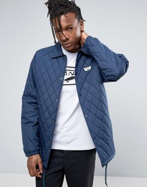 Vans Синяя стеганая спортивная куртка Torrey. Цвет: синий