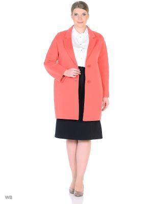Пальто демисезонное Мерлин XP-GROUP. Цвет: коралловый