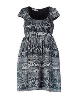 Короткое платье LEITMOTIV. Цвет: зеленый