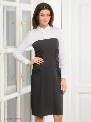 Платье Levall. Цвет: темно-серый