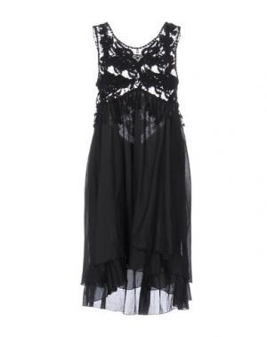 Короткое платье EMAMÒ. Цвет: черный