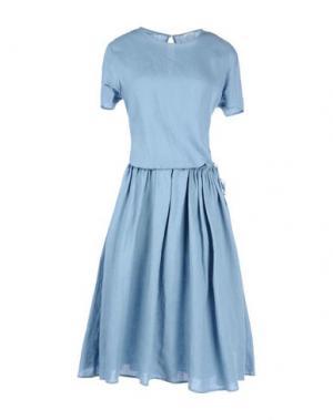 Платье длиной 3/4 A.B APUNTOB. Цвет: небесно-голубой