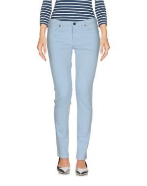 Джинсовые брюки PENCE. Цвет: небесно-голубой
