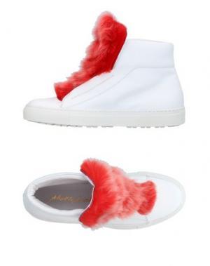 Высокие кеды и кроссовки ALBERTO MORETTI. Цвет: белый