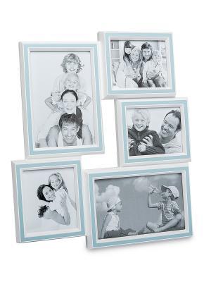 Фоторамка настенная Наша радость на 5 фото Bellezza casa. Цвет: голубой