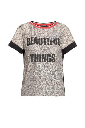 Кружевная блуза с кристаллами  186246 Cristina Effe. Цвет: разноцветный