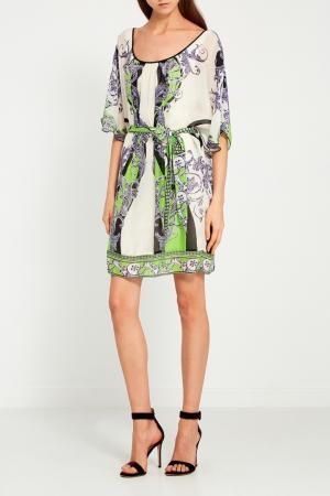 Платье-туника с поясом Hale Bob. Цвет: multicolor