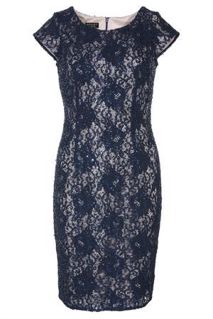 Кружевное платье Apart. Цвет: темно-синий