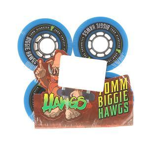 Колеса для скейтборда лонгборда  Pre-Packaged Biggie Hawgs Blue 78A 70 mm Landyachtz. Цвет: синий