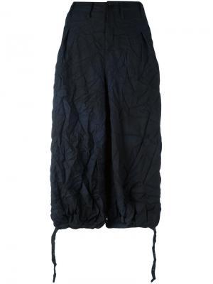 Cropped trousers Yohji Yamamoto. Цвет: синий