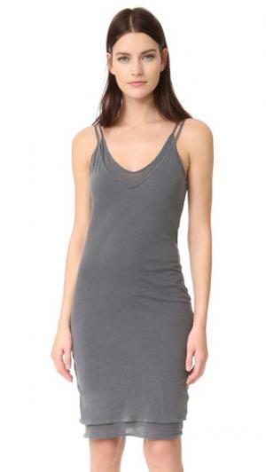 Платье-комбинация без рукавов с V-образным вырезом Stateside. Цвет: серый