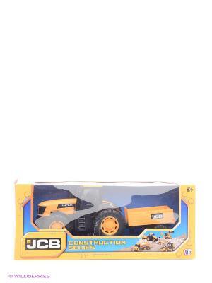 Машинка JCB из серии Стройка Трактор HTI. Цвет: желтый