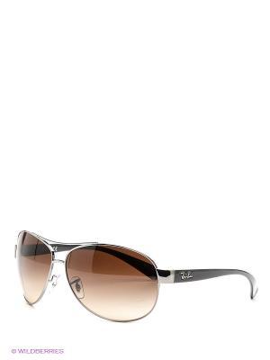 Очки солнцезащитные Ray Ban. Цвет: коричневый, серебристый