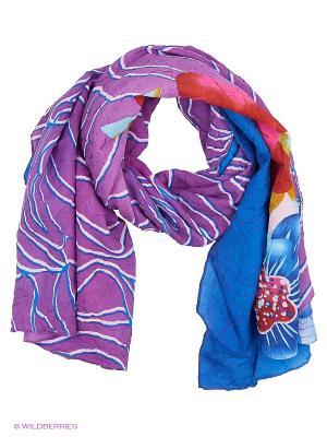Парео текстильное Vittorio Richi. Цвет: синий, сиреневый