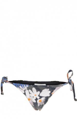 Плавки-бикини с декоративной отделкой Vanda Catucci. Цвет: разноцветный