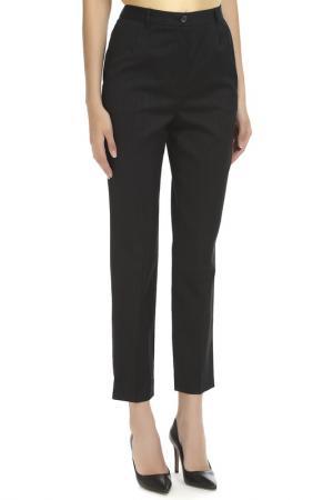 Укороченные брюки с застежками DOLCE & GABBANA. Цвет: черный