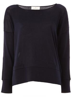 Блузка с перфорированным дизайном Maison Ullens. Цвет: синий
