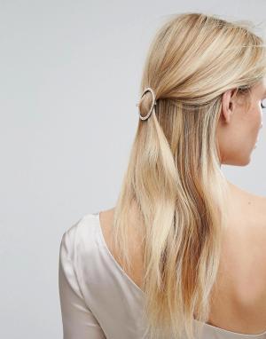 Orelia Заколка для волос с камнями. Цвет: золотой